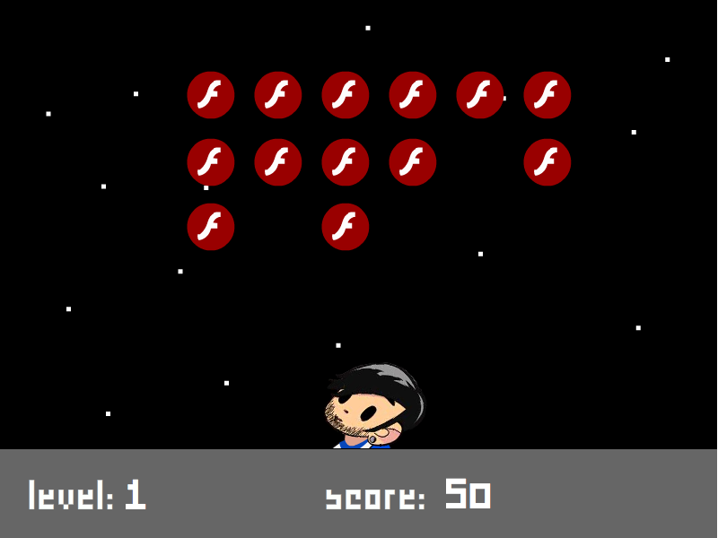 Flash Invaders screenshot