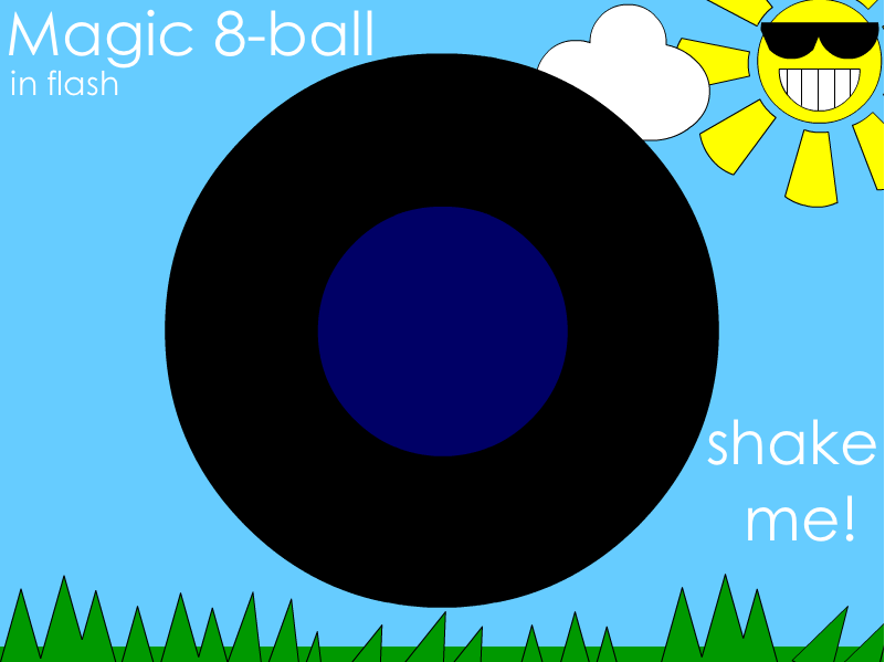 Magic 8-ball in Flash