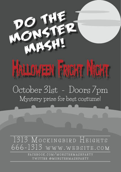Monster Mash Halloween Bash flyer