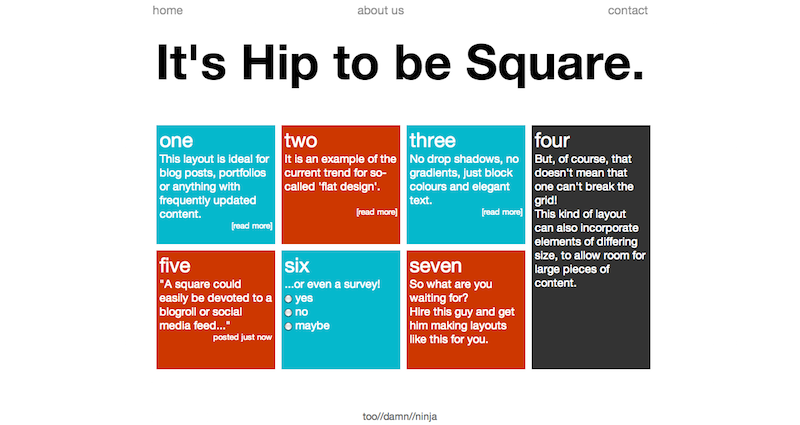 It's Hip to be Square.
